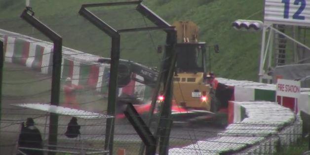 Accident de Jules Bianchi: les premières images (amateurs) de la sortie de route diffusées sur Youtube