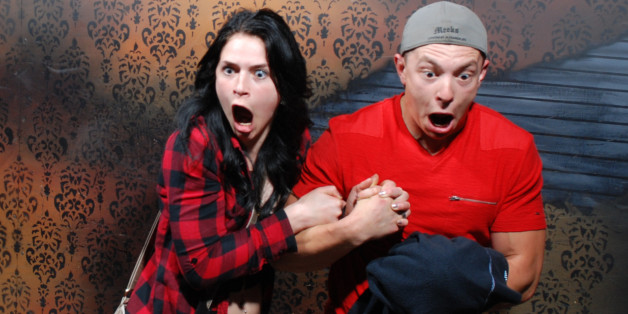 32 Hilarious Haunted House Reactions Caught On Camera