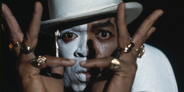 West Indian actor Geoffrey Holder plays the mysterious Baron Samedi in the James Bond film 'Live and Let Die', directed by Guy Hamilton, 1973. (Photo by Terry O'Neill/Hulton Archive/Getty Images)