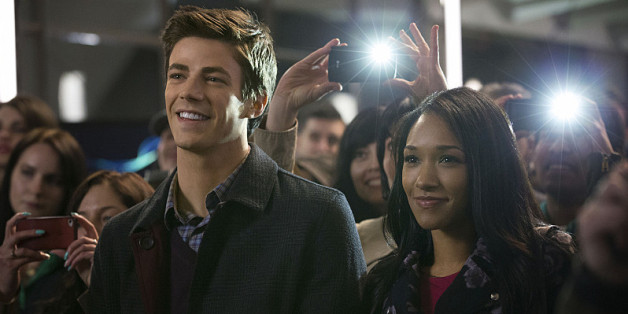 Grant Gustin and Candice Allen of 'The Flash.'