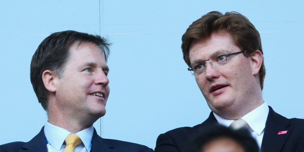 GLASGOW, SCOTLAND - JULY 23:  Britain's deputy Prime Minister Nick Clegg (L) Chief Secretary to the Treasury Danny Alexander during the Opening Ceremony for the Glasgow 2014 Commonwealth Games at Celtic Park on July 23, 2014 in Glasgow, Scotland.  (Photo by Chris Jackson/Getty Images)