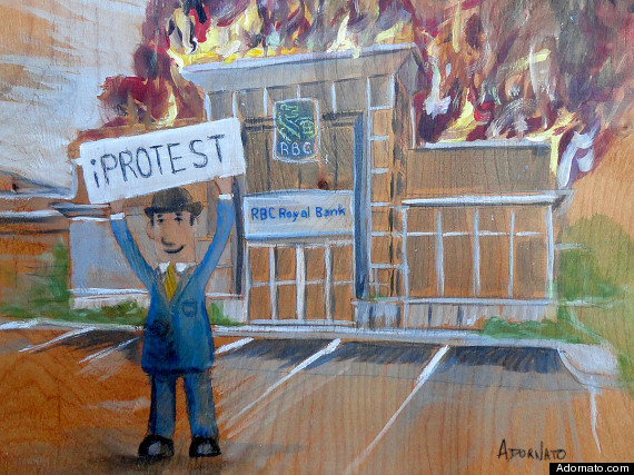 rbc branch on fire painting