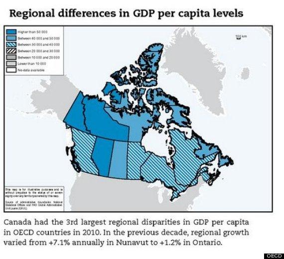 oecd canada regional disparity