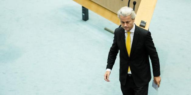 Le député néerlandais anti-Islam Geert Wilders dans la Chambre des Représentants à La Haye, le 18 septembre 2014.