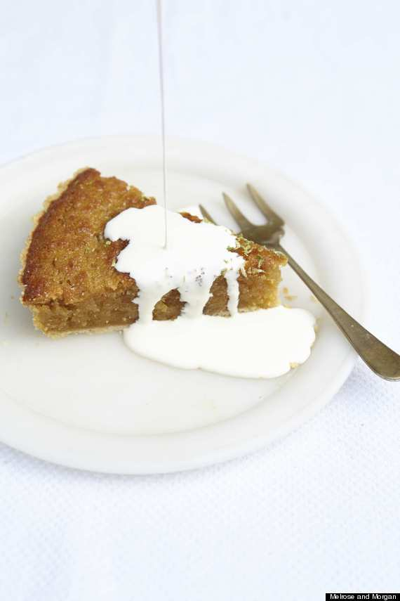ginger and lime treacle tart