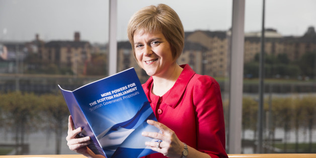 Deputy First Minister Nicola Sturgeon as Scotland's political parties are due to submit their proposals to the commission tasked with agreeing more powers for the Scottish Parliament following the No Vote in the Scottish independence referendum