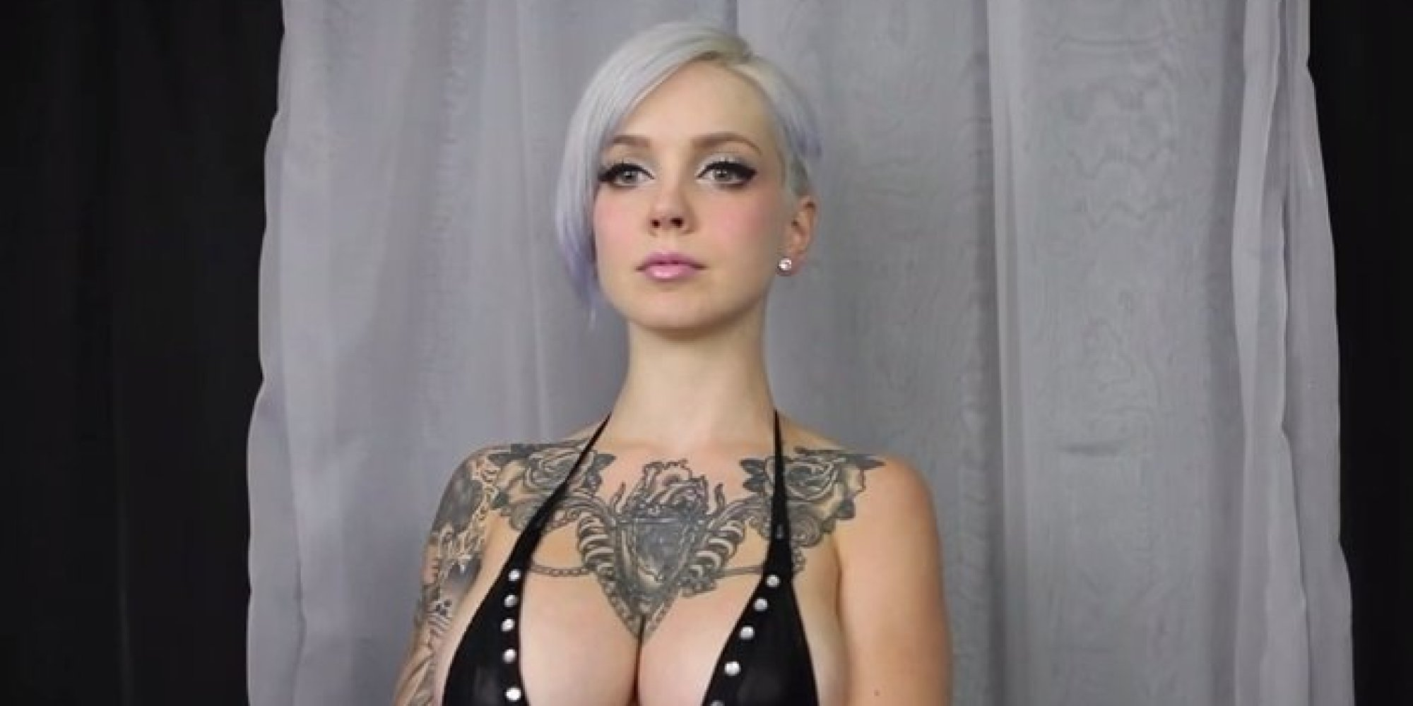 tattooed model sara x wiggles boobs to mozart (nsfw) | huffpost