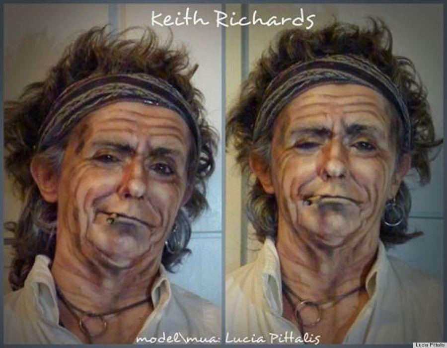 keith richards makeup