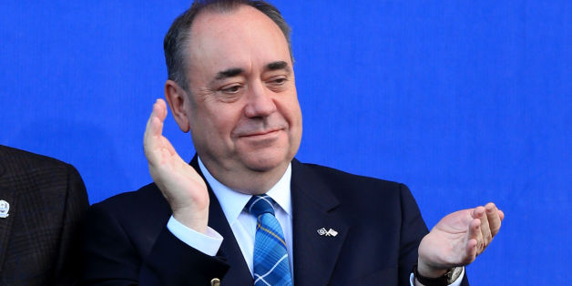 Scotland First Minister Alex Salmond during the presentations on day three of the 40th Ryder Cup at Gleneagles Golf Course, Perthshire.