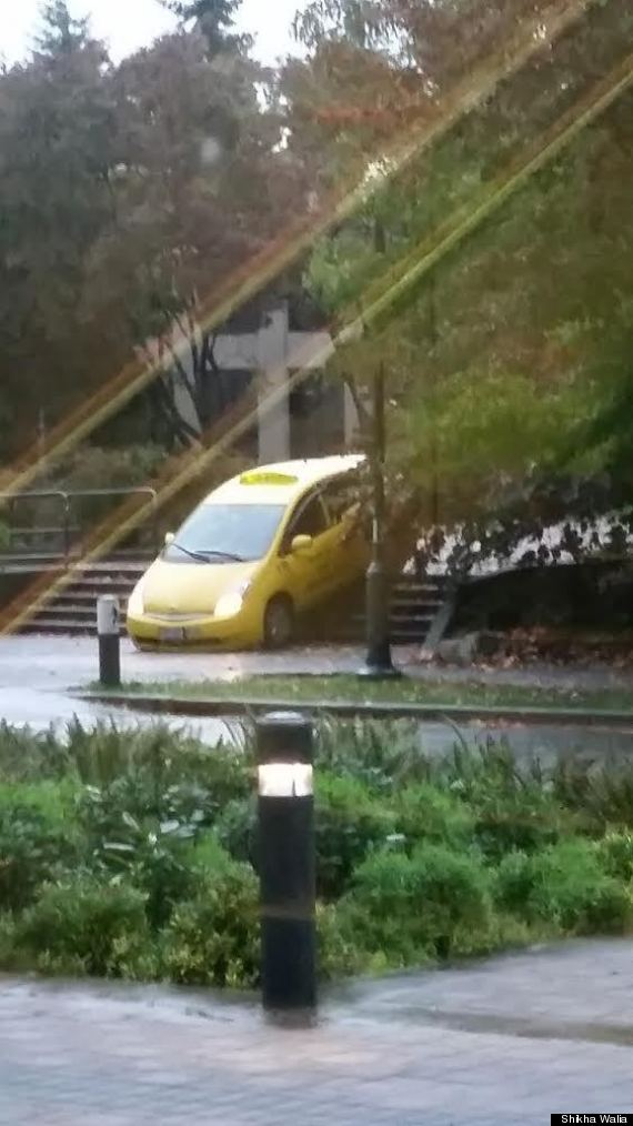 ubc taxi stuck stairs