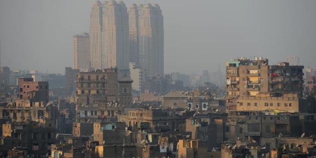 Vue du centre ville du Caire en janvier 2013