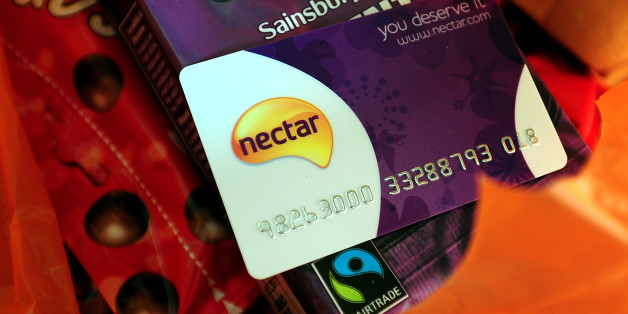 A general view of a Sainsbury Nectar loyalty card.