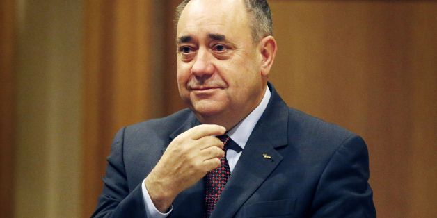 Scottish First Minister Alex Salmond ahead of addressing the Scottish Trades Union Congress (STUC) conference, Decent Work Dignified Lives, at the Hilton Hotel in Glasgow, Scotland.