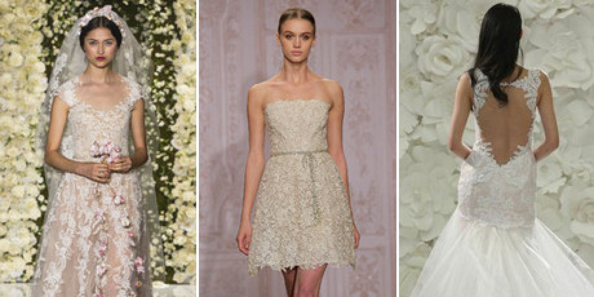 Top Wedding Dress Trends From The Fall 2015 Bridal Runways | HuffPost