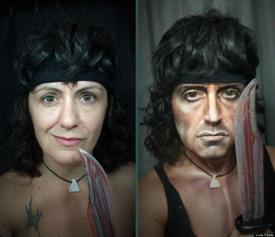 makeup transformation rambo