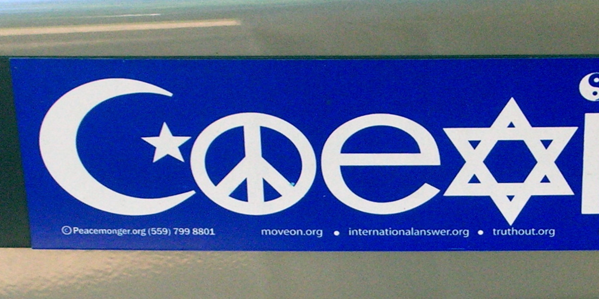 Why the coexist bumper stickers bug me huffpost biocorpaavc