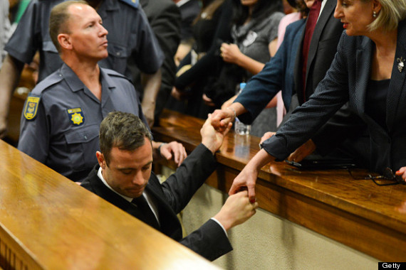 oscar pistorius is led away after sentencing