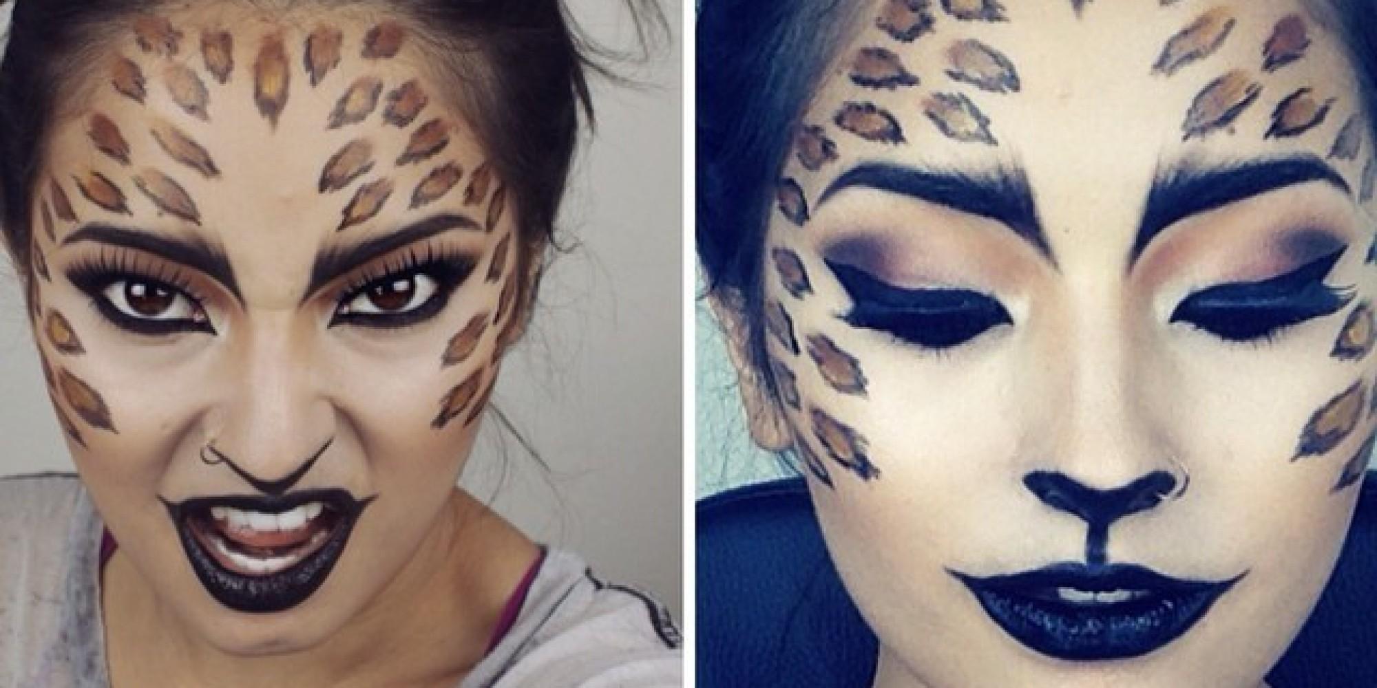 maquillaje de leopardo sencillo