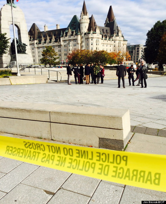 Ottawa Shooting: Photos From Parliament Hill And War Memorial