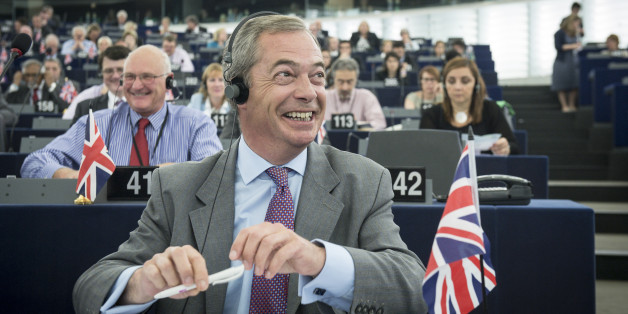Nigel Farage , British Member of the European parliament and leader of the UK Independence Party (UKIP), attends the second day of plenary session at the European Parliament headquarters in Strasbourg, France on 02.07.2014