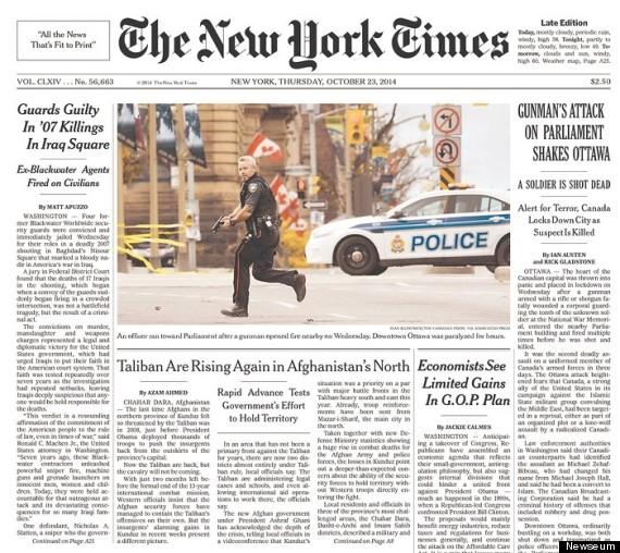 new york times ottawa shooting
