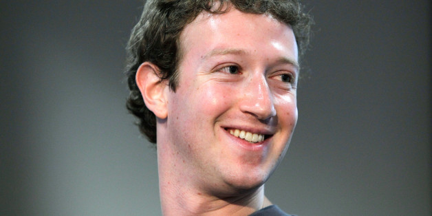 Facebook CEO Mark Zuckerberg smiles during a product announcement at Facebook headquarters in Palo Alto, Calif., Wednesday, Oct. 5, 2010. (AP Photo/Paul Sakuma)