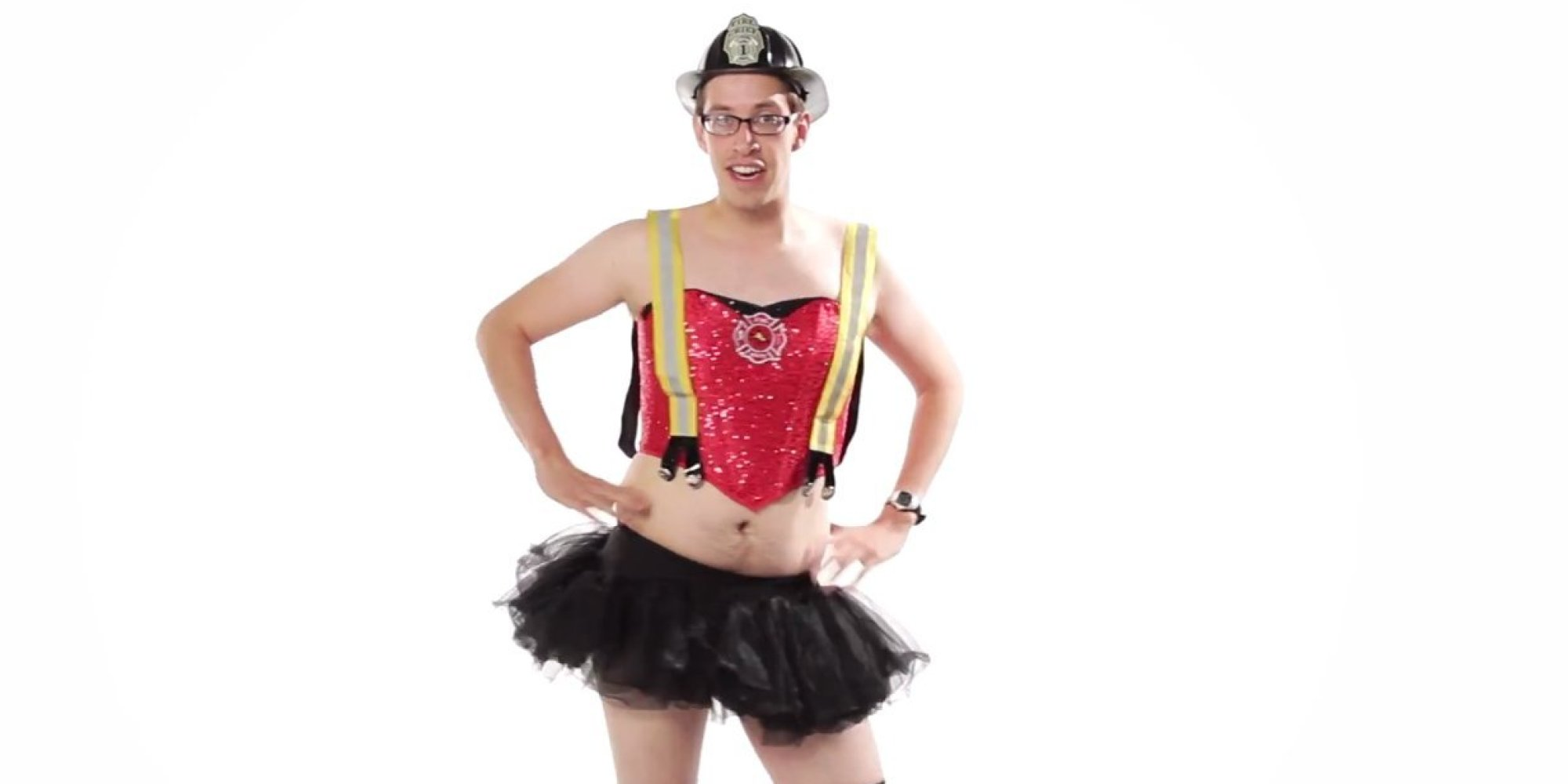 Men Try On u0027Sexyu0027 Halloween Costumes Acknowledge How Ridiculous They Are | HuffPost  sc 1 st  HuffPost : target mens halloween costumes  - Germanpascual.Com