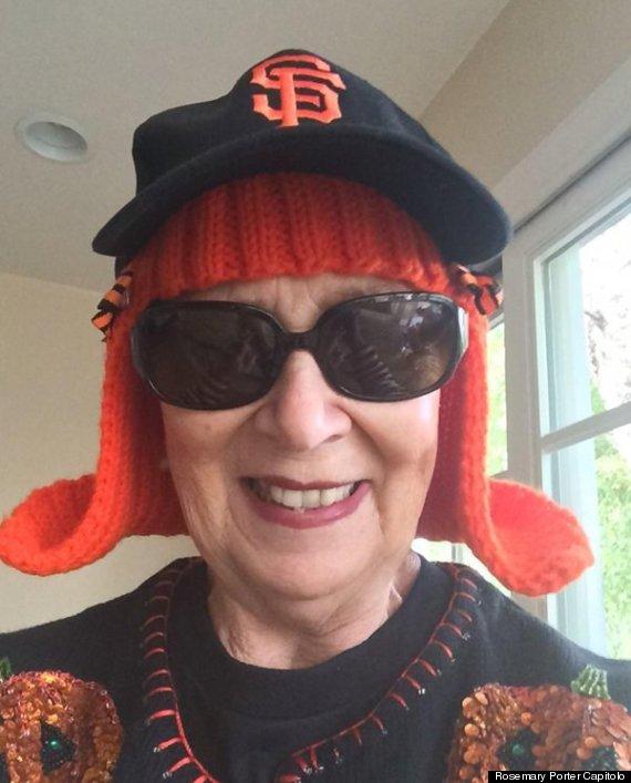 granny knits hair
