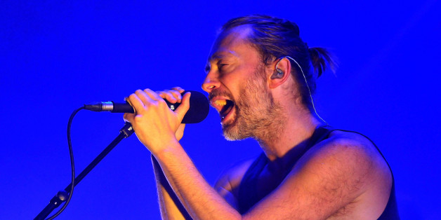 LONDON, ENGLAND - JULY 24:  Thom Yorke of Atoms For Peace performs live on stage at The Roundhouse on July 24, 2013 in London, England.  (Photo by Jim Dyson/Redferns via Getty Images)
