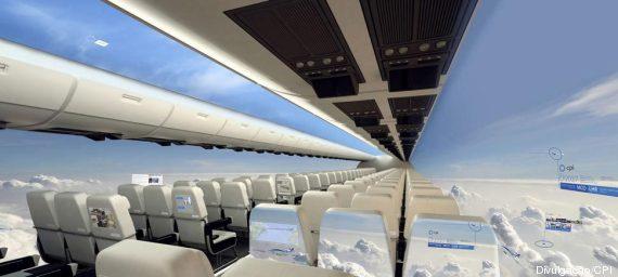 the windowless fuselage