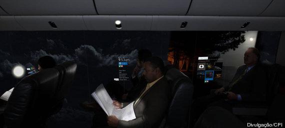 the windowless plane