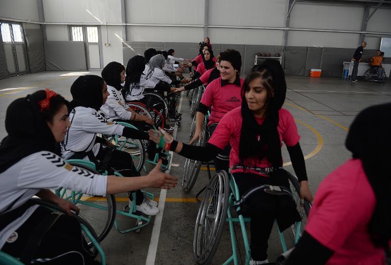 équipe de basket en fauteuil roulant de kaboul