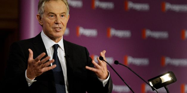 Former Prime Minister Tony Blair as he delivers Progress' inaugural annual Philip Gould Lecture.