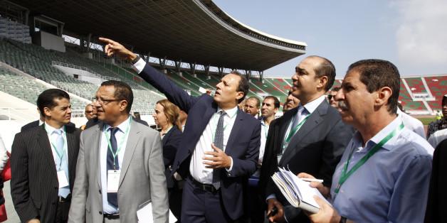 Mohamed Ouzzine lors de la réouverture du complexe sportif Prince Moulay Abdellah à Rabat (30 septembre 2014)