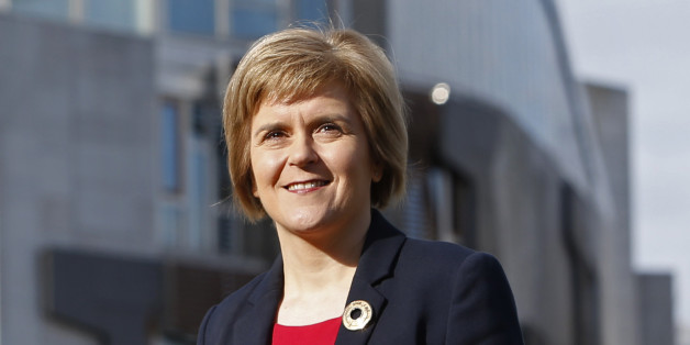 Nicola Sturgeon outside the Scottish Parliament in Edinburgh as the Scottish National Party announced that she was the only candidate to succeed Alex Salmond as SNP leader.