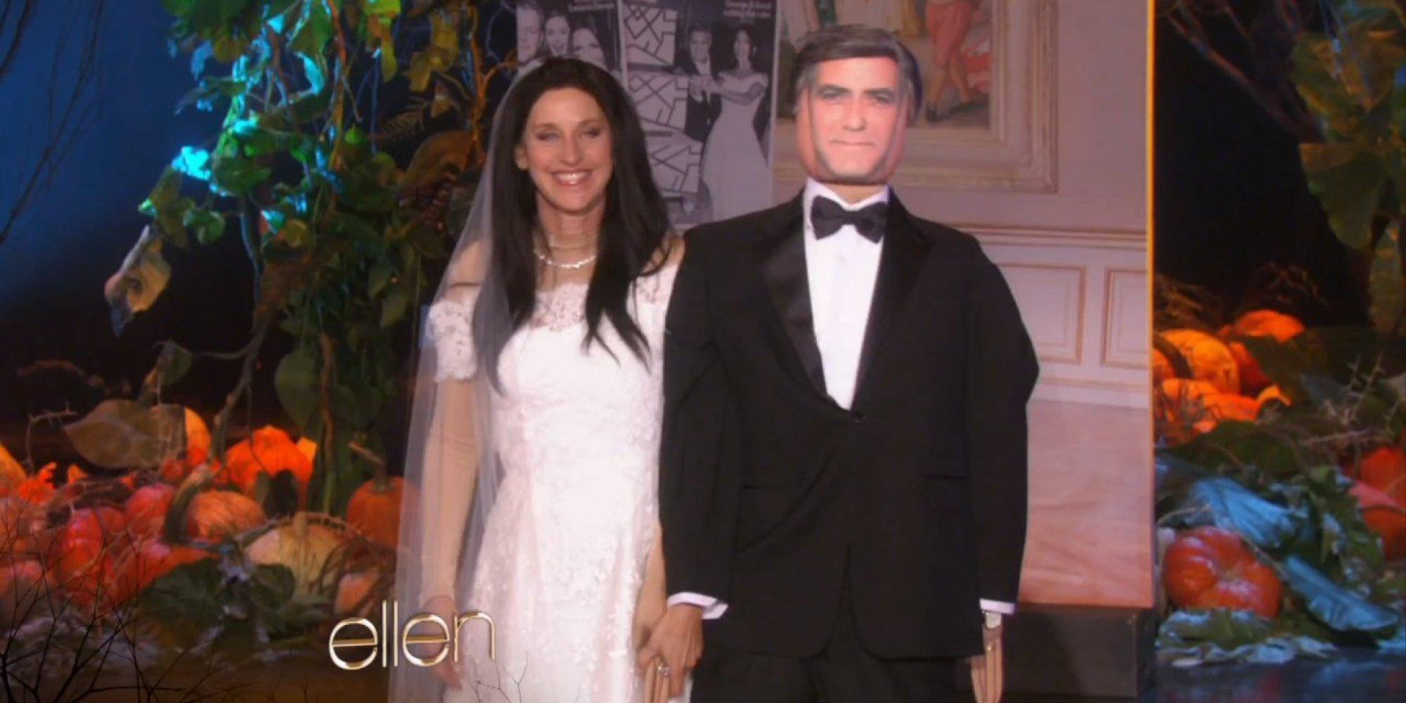 Ellen DeGeneres Marries George Clooney For Halloween | HuffPost