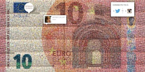 selfie 10 euros bce