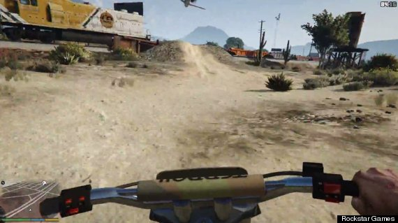 gta 5 how to get first person view