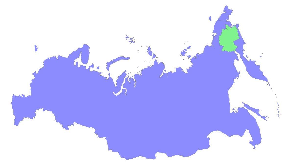 was ist halb so groß wie russland