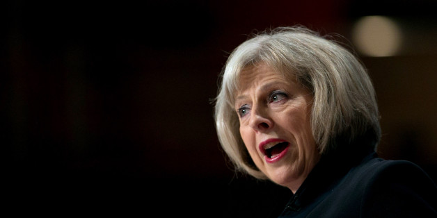 Home Secretary Theresa May addresses the Conservative Party Conference in the main hall of the ICC Birmingham on on September 30, 2014 in Birmingham, England. The third day of conference will see speeches on home affairs and justice.  (Photo by Matt Cardy/Getty Images)
