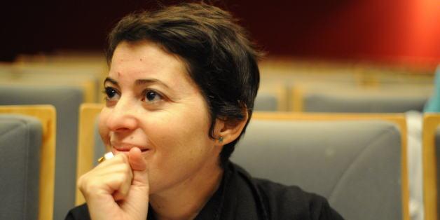 Nicène Kossentini, à la conférence de presse à l'occasions du lancement de DJART, le 6 novembre 2014