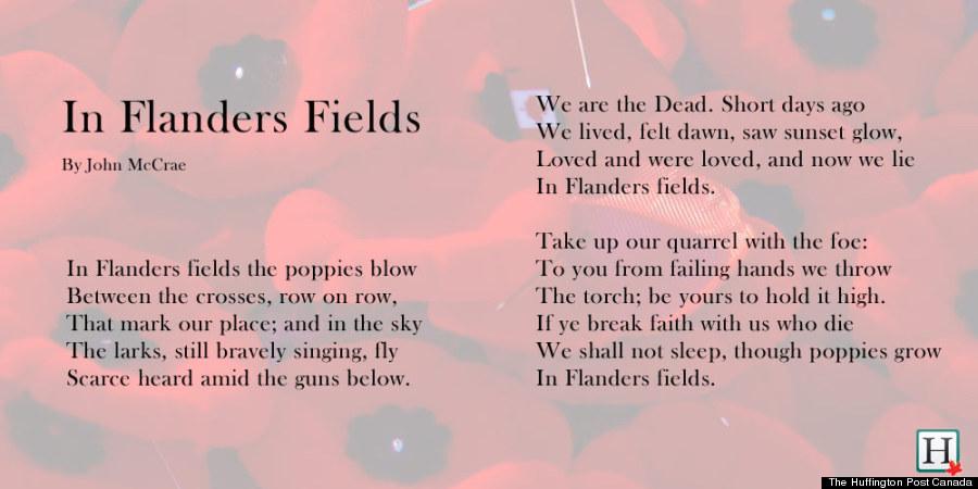 The field of flanders poem analysis essay