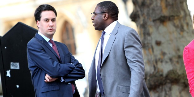 Ed Miliband arrives with  David Lammy at Westminster Central Hall this evening to take part in the Christian Socialist Movement Hustings.