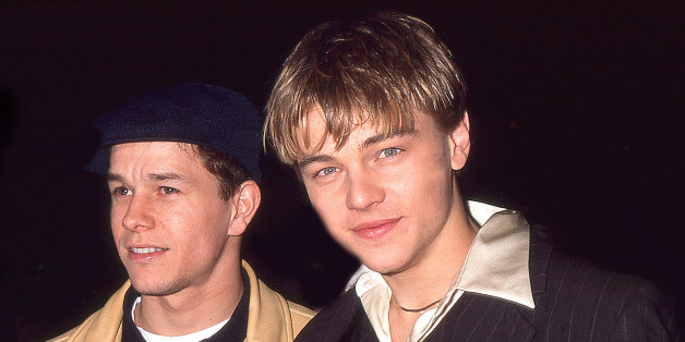Actor Mark Wahlberg and actor Leonardo DiCaprio attend 'The Basketball Diaries' New York City Premiere on April 14, 1995 at Sony Village 7 in New York City.