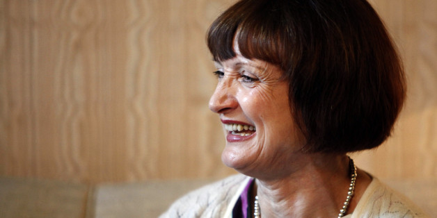 Olympics Minister Tessa Jowell, from Britain, laughs during a meeting with Rio de Janeiro City's Mayor Eduardo Paes, and Rio de Janeiro State's Governor Sergio Cabral in Rio de Janeiro, Thursday, March 25, 2010. (AP Photo/Felipe Dana)
