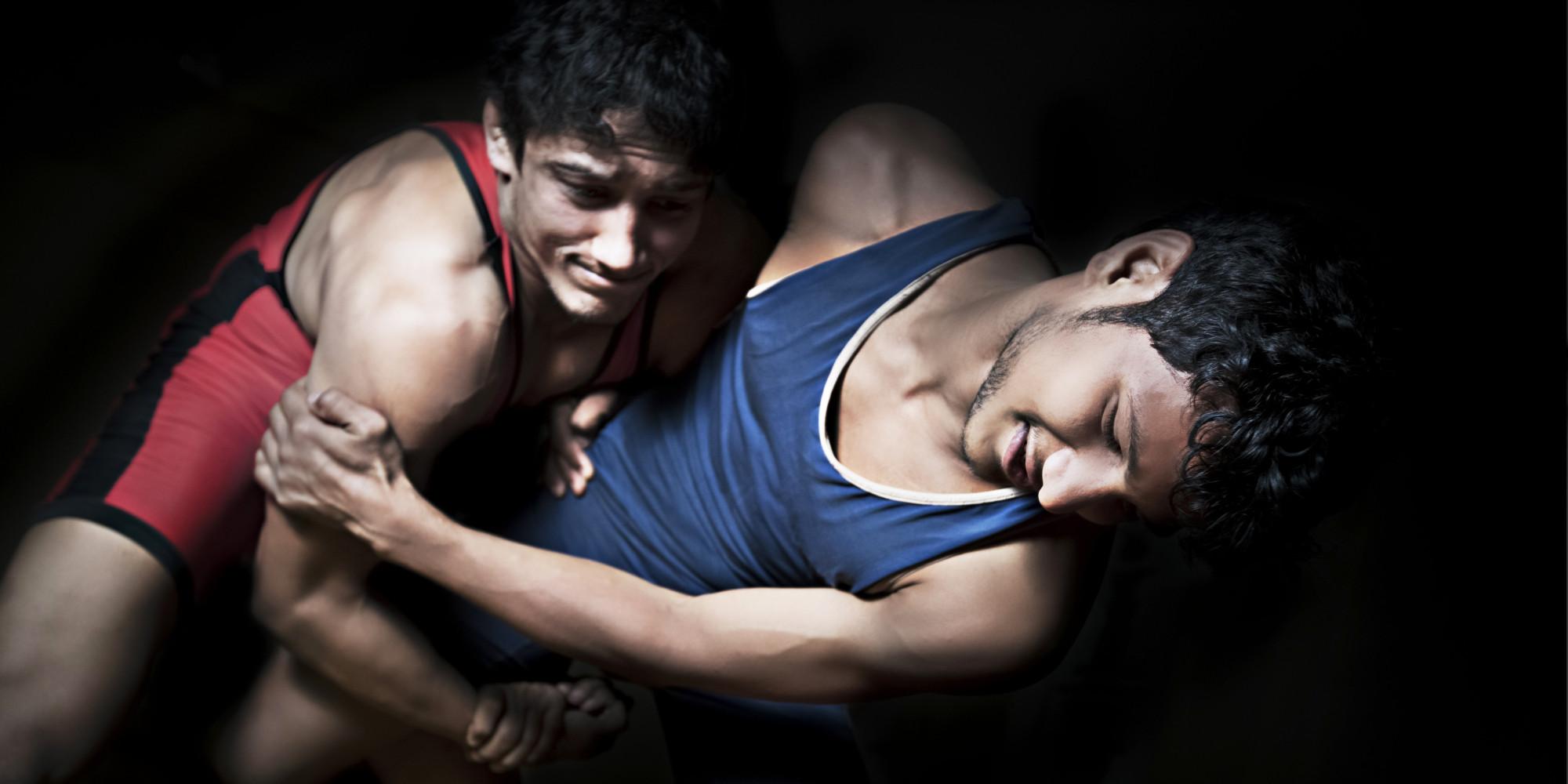 Video wrestling gay