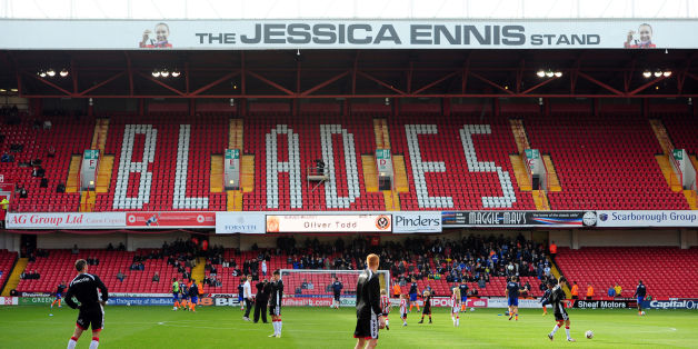 File photo dated 13-10-2012 of A general view showing the renamed Jessica Ennis Stand at Bramall Lane, Sheffield.