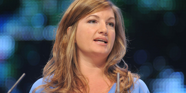 Karren Brady, managing director of Birmingham City Football Club gives a speech at The Conservative Party Conference in Birmingham, England Sunday, Sept. 28, 2008. The annual conference runs until Wednesday. (Photo by Jeff Overs/BBC News & Current Affairs via Getty Images)
