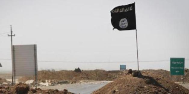 Le drapeau du groupe Etat islamique le 11 septembre 2014