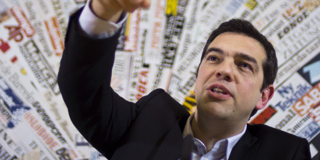 Greek left wing opposition leader Alexis Tsipras answers to a question during a press conference at the Foreign Press Club in Rome, Friday, Feb. 7, 2014. (AP Photo/Domenico Stinellis)